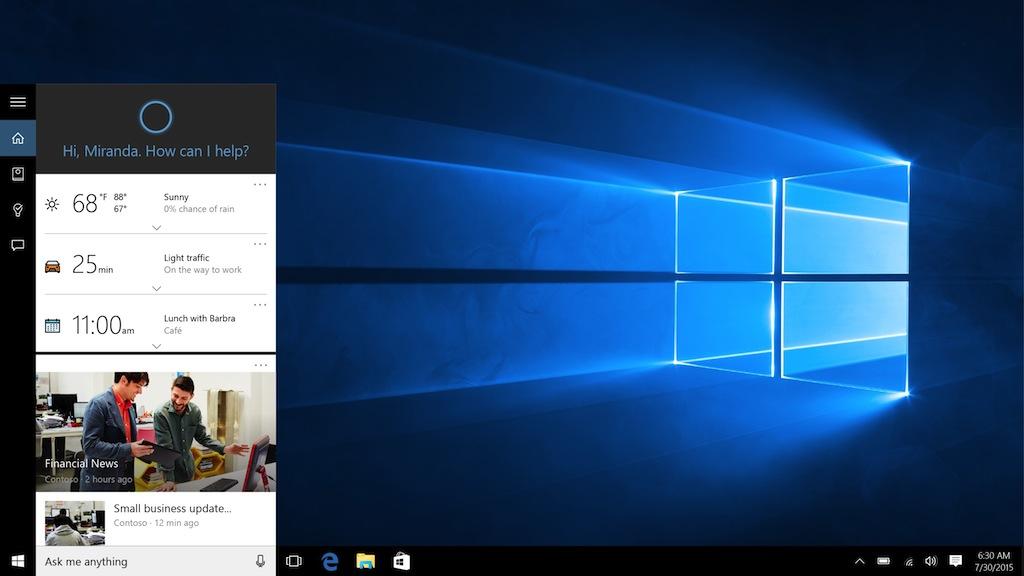 Cortana in Windows 10