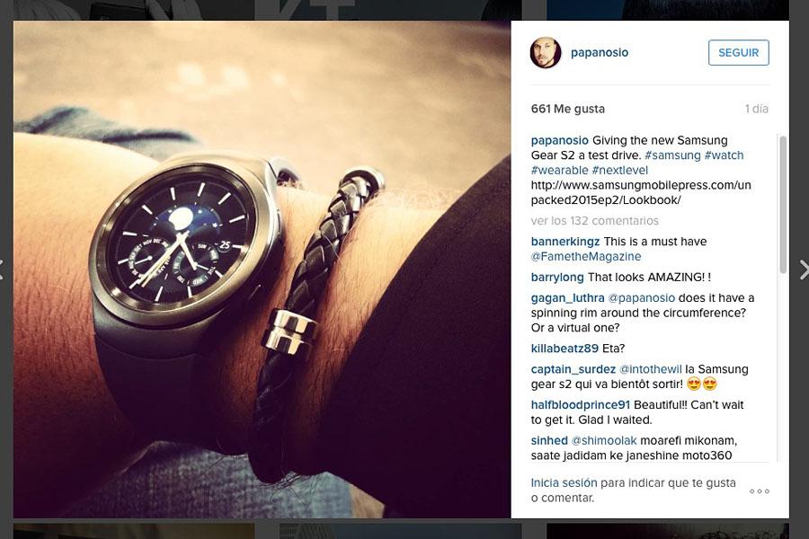 Samsung Gear S2 foto instagram Miloseski