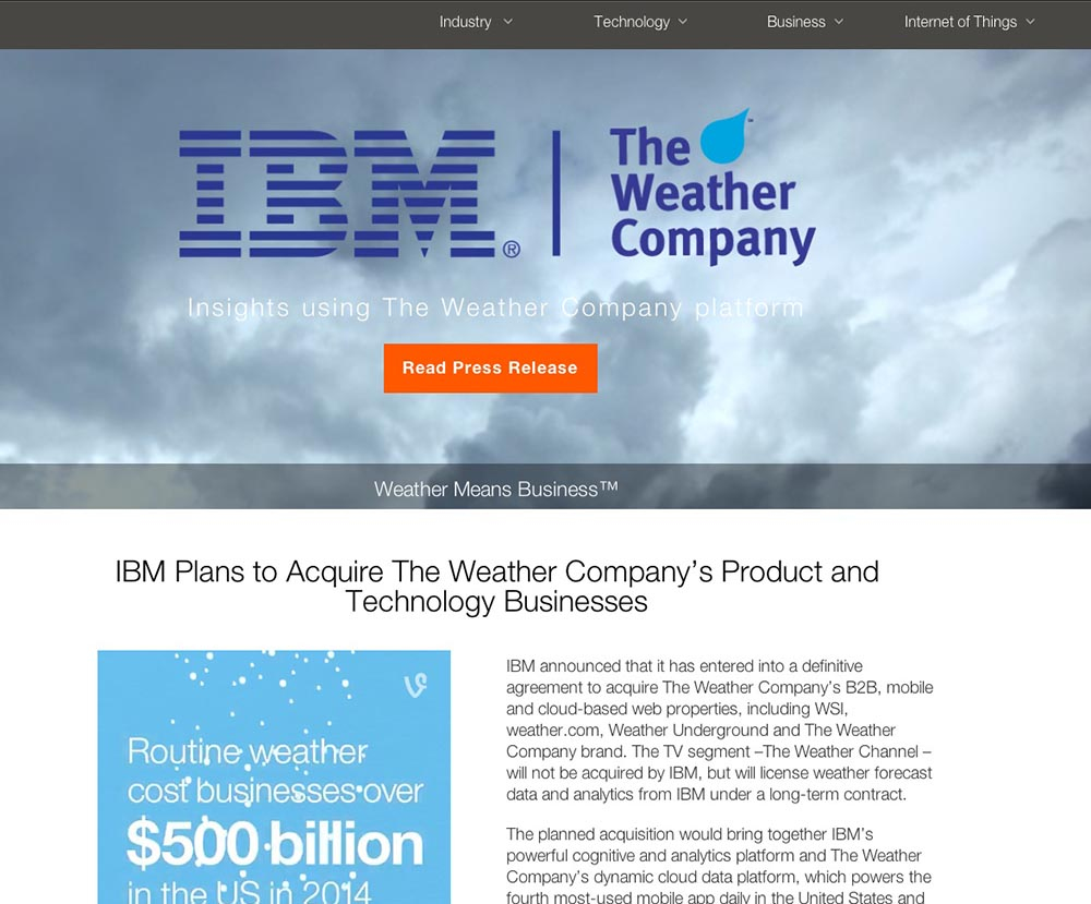 Captura Web IBM The Weather