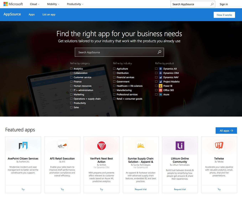 Dynamic 365 y Appsource Microsoft-01