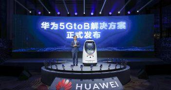 Ryan Ding presentando 5GtoB en MWC Shanghai 2021 Huawei